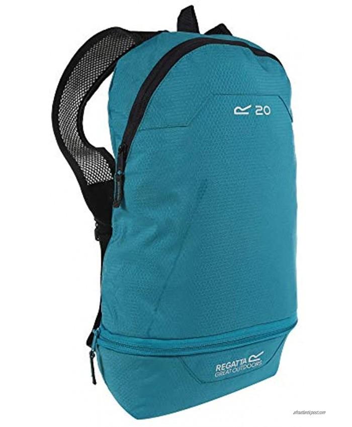 Regatta Packaway Hipack Breathable Compact Travel Backpack Aqua Single