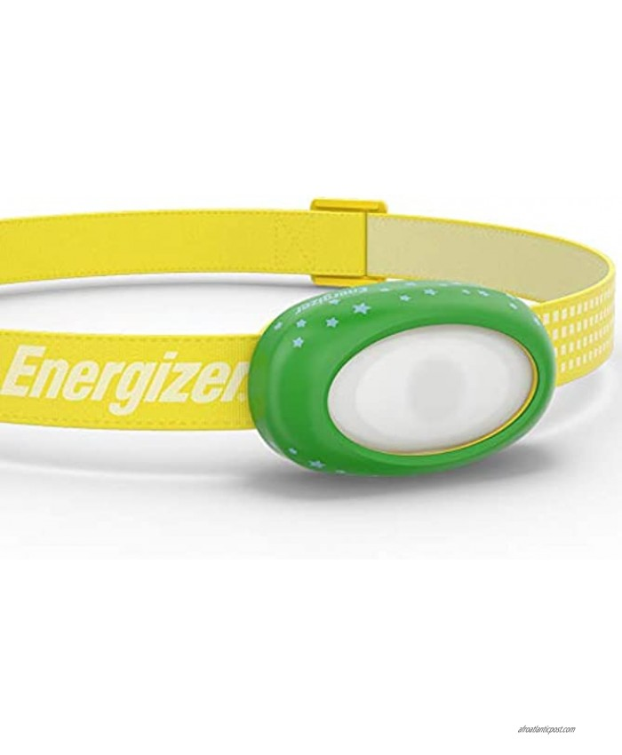Energizer LED Headlamp For Kids Multi-Color Options Bright & Durable Comfortable and Washable Band Long-Lasting Battery Life Batteries Included