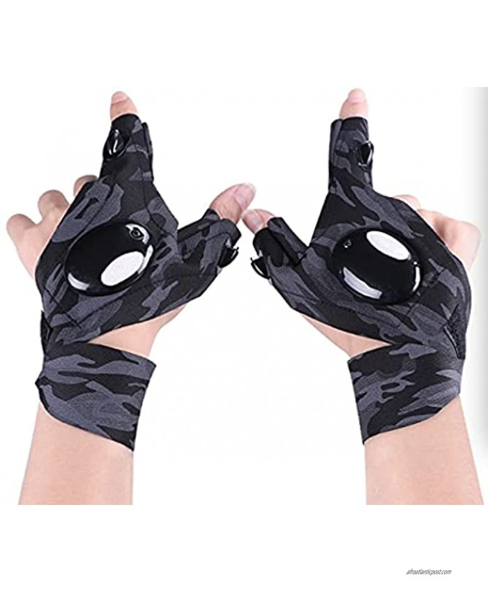 LED Flashlight Gloves,Cool Gadgets Gifts for Handyman,Fishing,Hiking,Outdoor Night Running,Repairing and Working in Darkness1 Pair