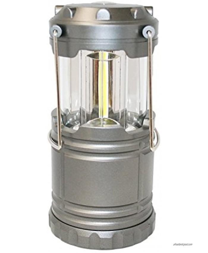 Outdoorsman By i-Zoom 600 Lumen COB LED Collapsible Lantern Gray