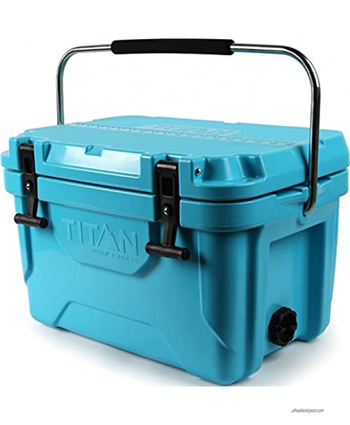Arctic Zone Titan Deep Freeze Premium Ice Chest Roto Cooler with Microban Protection Sizes: 55Q and 20Q Colors: Blue and Gray