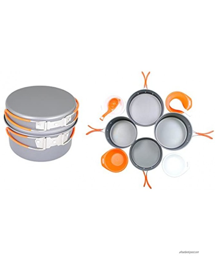 Gas One Anodizing Aluminum Cook Set 3-5 people Outdoor cooking Hiking Backpacking cookware