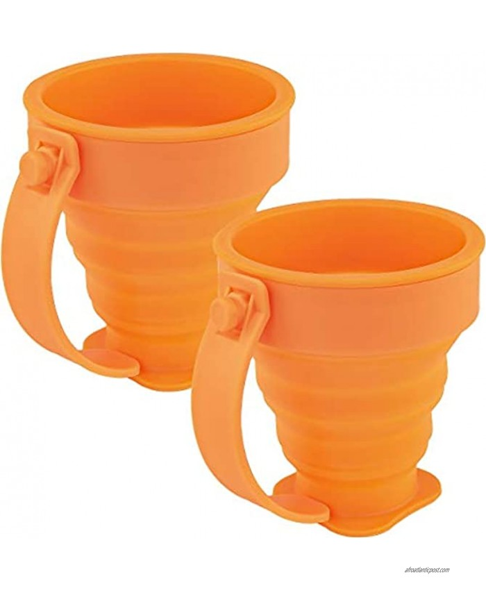 Southern Homewares Collapsible Silicone Cups Expandable Drinking Cup Set Pop Up Cups Camping Hiking Travel Folding Set 2