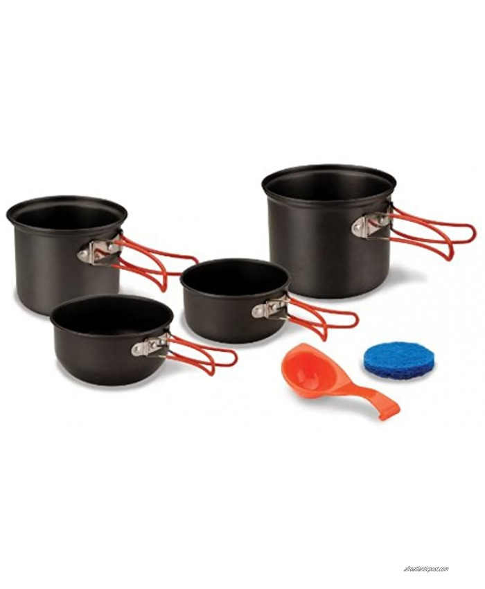 Stansport Hard Anodized Aluminum Cook Set-2 Person