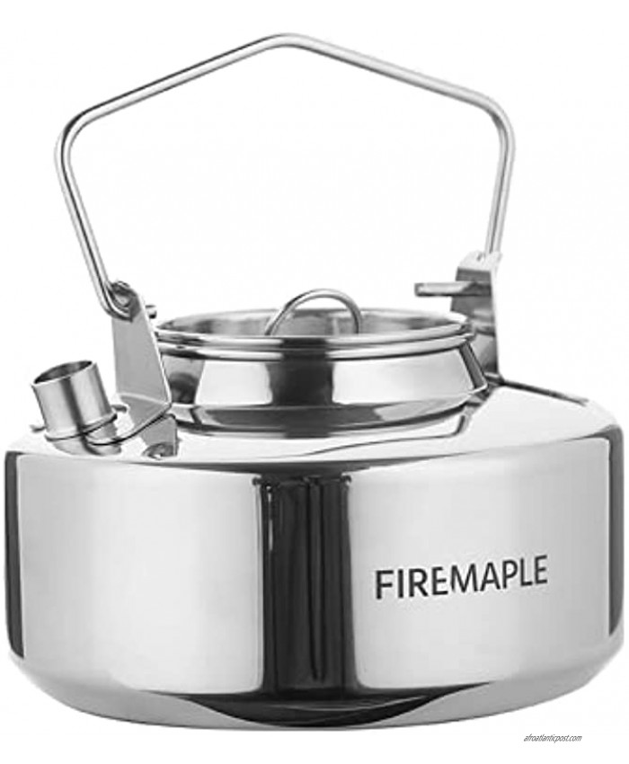 Fire-Maple Antarcti Portable 1 Liter Lightweight Stainless Steel Camping Kettle | Durable and Portable Camp Tea Pot | Ideal for Bushcraft and Outdoor Campfire Use
