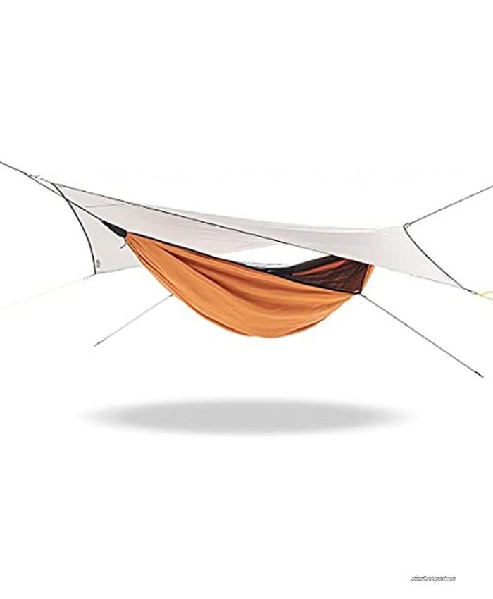Naturehike Ultralight Hammock Outdoor Camping Hiking Anti-Rollover Hammock Sunshade and Rainproof Canopy Light Gray Orange