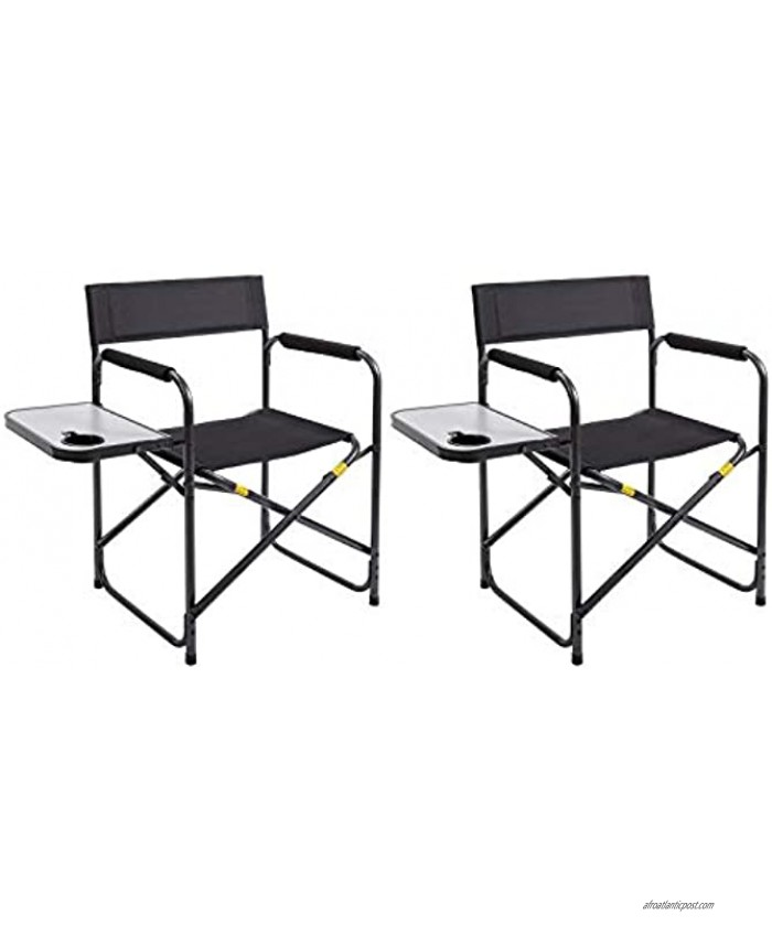 AsterOutdoor Folding Directors Chair with Collapsible Side Table for Outdoors Camping Lawn Fishing Supports 250lbs