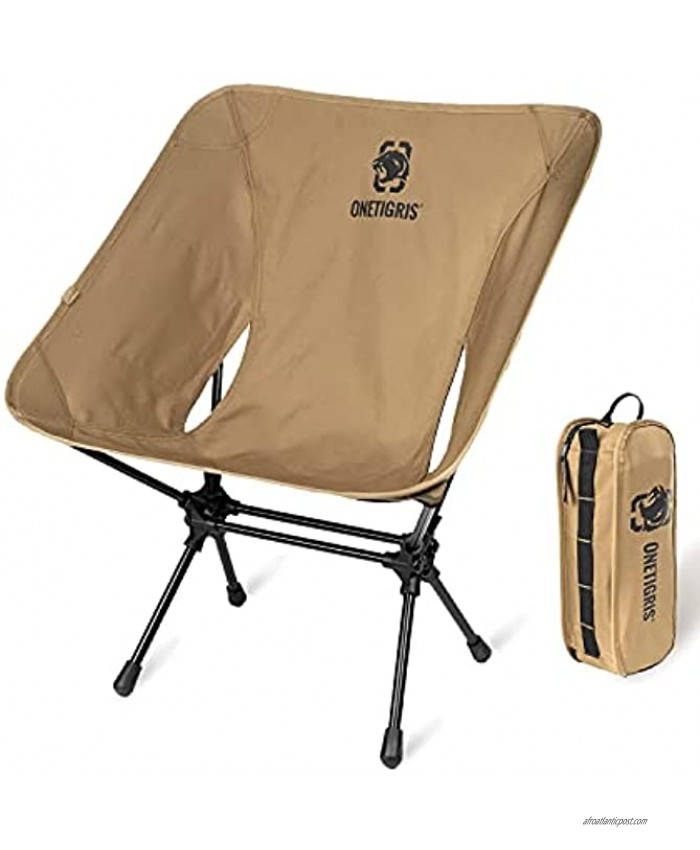 OneTigris Camping Backpacking Chair 330 lbs Capacity Heavy Duty Compact Portable Folding Chair for Camping Hiking Gardening Travel Beach Picnic Lightweight Backpacking