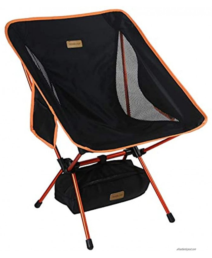 YIZI GO Portable Camping Chair Compact Ultralight Folding Backpacking Chairs Small Collapsible Foldable Packable Lightweight Backpack Chair in a Bag for Outdoor Camp Picnic Hiking