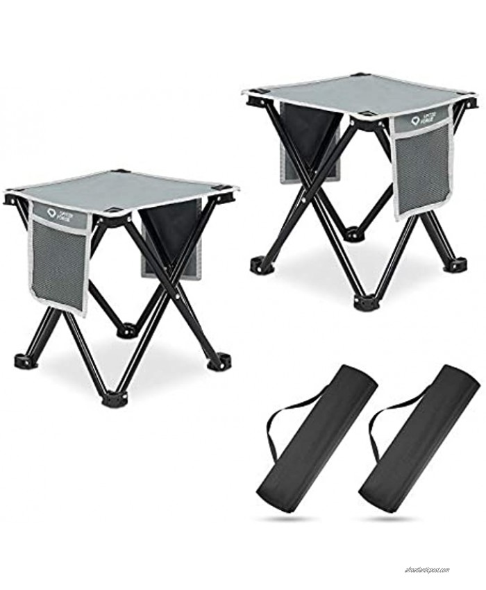 2 Pack Camping Stool SPITZE FORGE 13.7 Inch Small Portable Folding Chair for Outdoor Camping Fishing Hiking Gardening and Beach Slacker Chair with Carry BagSupport 450 LBS Capacity