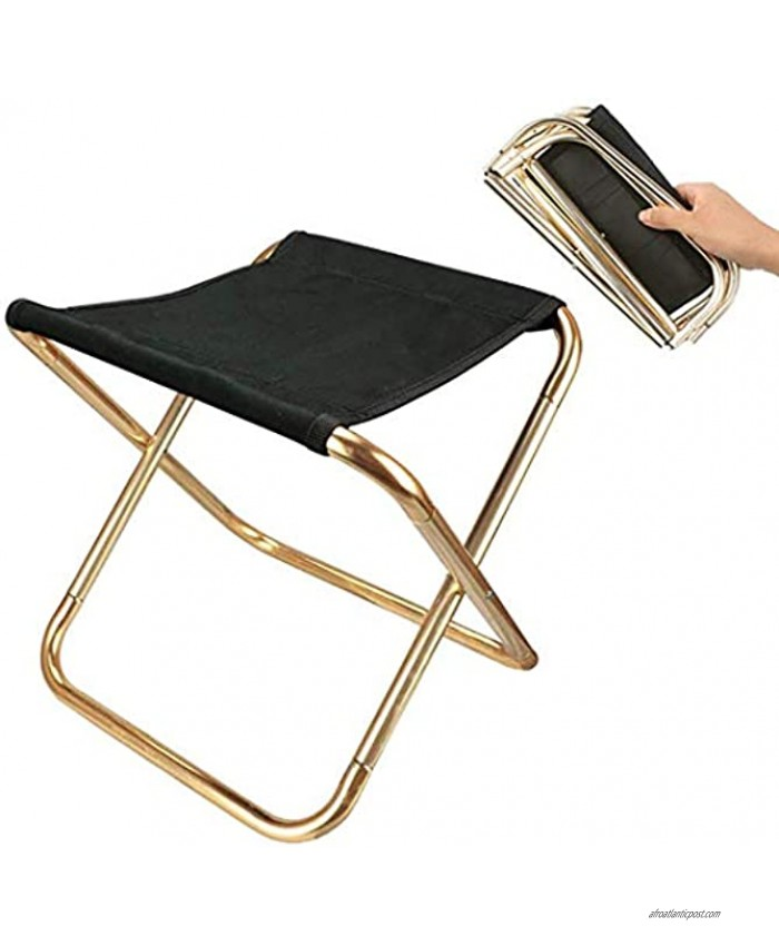 HOME STRANGERS Folding Camping Stool 12 Height Outdoor Portable Stool for Walking Hiking Fishing A