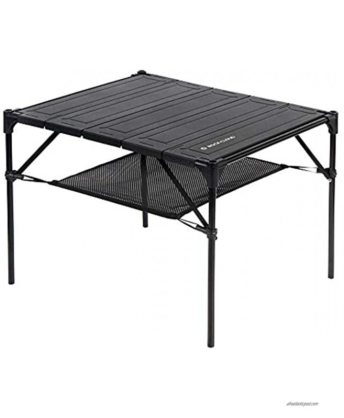Rock Cloud Portable Camping Table Aluminum Folding Camp Table Lightweight Outdoor for Camping Hiking Backpacking Picnic