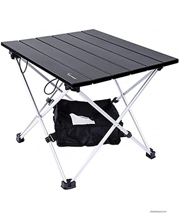 Sportneer Portable Camping Table Lightweight Aluminum Table Top Folding Tables with Mesh Bag Camp Table Perfect for Camping Cooking Hiking Fishing Picnic Dining Beaching Boat S M L Small