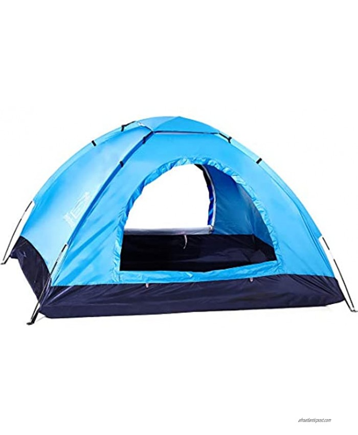 2-Person Tent,Two-Person Camping Tent Suitable for Outdoor Play,Two Doors and Windows,Breathable Mesh,Windproof and Waterproof Camping Tent,Easy to Install,with Storage Bag