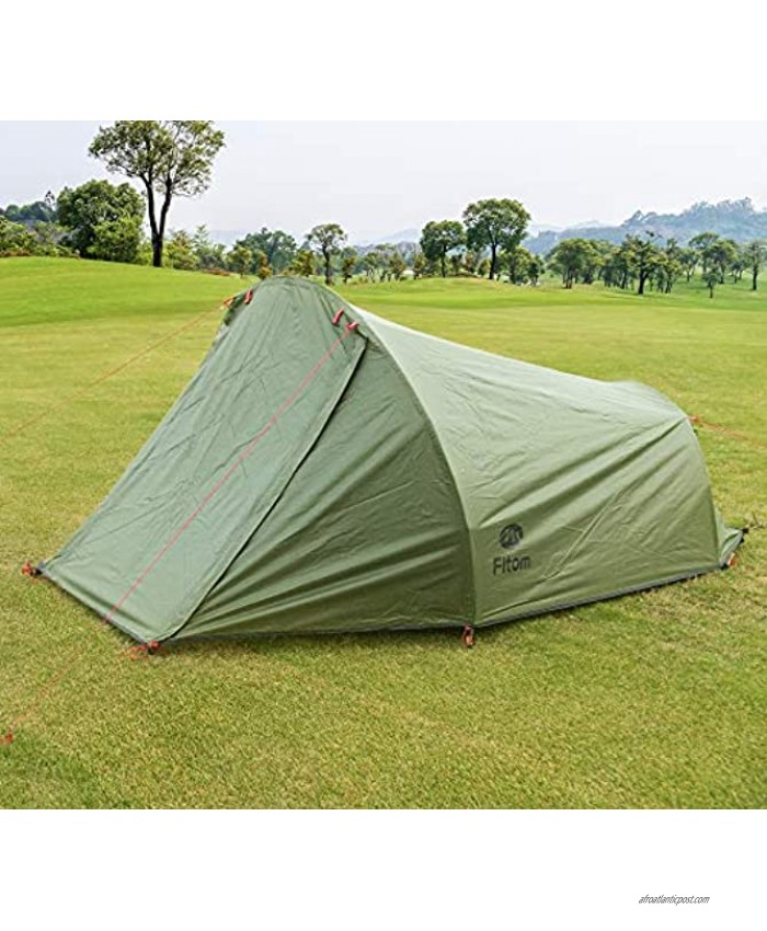Fltom 2 Person Camping Tent Ultralight Backpacking Tent for 4-Season Easy Setup Double Layer Outdoor Tent for Hiking Mountaineering Backpack Travel