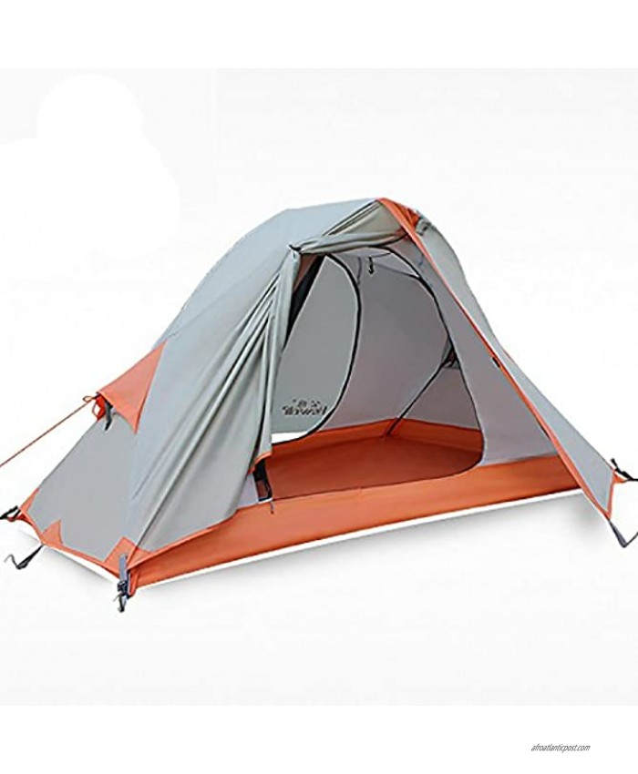 Hewolf 1 Person Tent Waterproof Free-standing Best Solo Tent Windproof Durable Double Layer Single Man Tent for Backpacking
