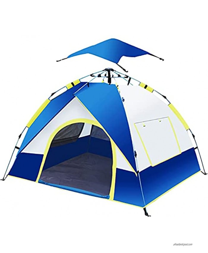 Pop Up Tent 2 4 Person Easy Up Camping Tents Advanced Venting Design with 3 Ventilation Windows and Waterproof Top Cover