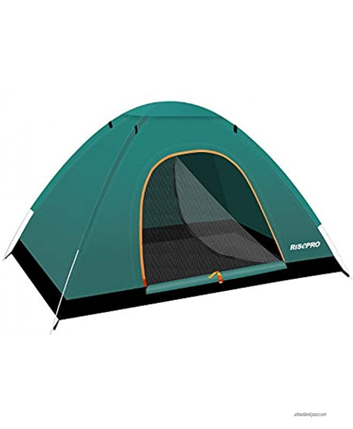 RISEPRO Instant Automatic pop up Camping Tent 2 Person Lightweight Tent,Waterproof Windproof UV Protection Perfect for Beach Outdoor Traveling,Hiking,Camping Hunting Fishing etc CT2020G
