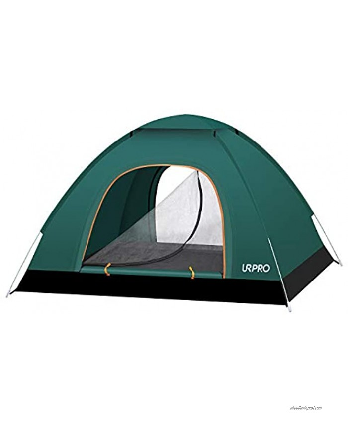 URPRO 2-3 Persons Instant Automatic pop up Camping Tent Lightweight Tent Waterproof Windproof UV Protection Beach Outdoor Traveling,Hiking,Camping Hunting Fishing