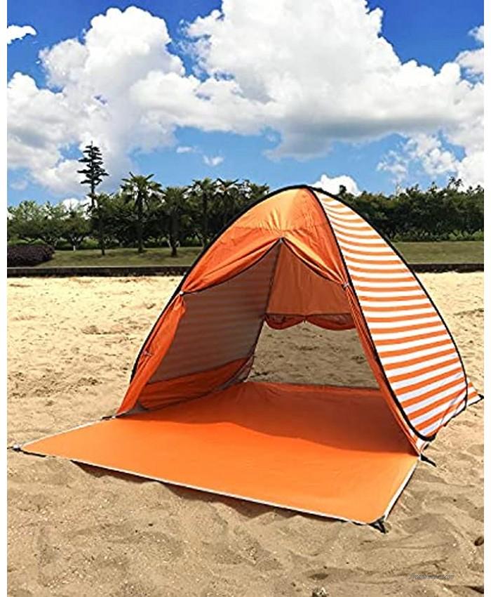Orange Medium Size Beach Tent Outdoor Indoor Pop Up Play Tent for 2-3 Person