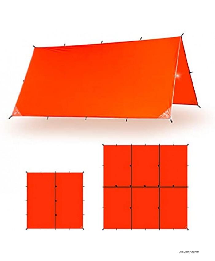 Aqua Quest Survivor SIL Tarp Waterproof Emergency Survival Tarp Shelter 10x10 or 15x15 Orange