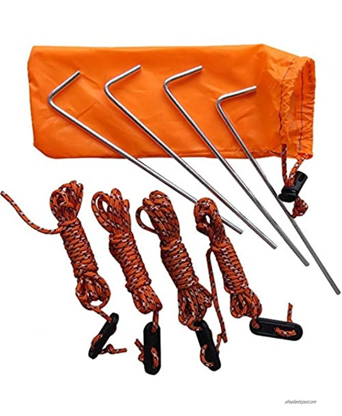 Compact Windproof Tent Sets Accessories Practical Ground Nail and Adjustable Tent Ropes Portable Lightweight Great for Tent Awning Outdoor Camping Hiking Backpacking Etc