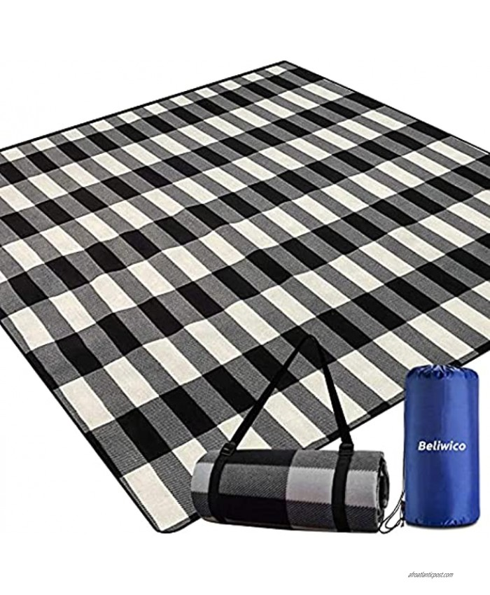 Picnic Blanket,Picnic Blankets Waterproof Foldable with 3 Layers Material,Extra Large Picnic Blanket Picnic Mat Beach Blanket 80x80 for Camping Beach Park Hiking Larger & Thicker