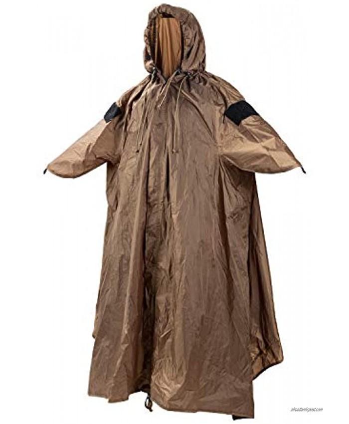 OneTigris TENTSFORMER Rain Poncho Bushcraft Poncho Tent Multiuse Waterproof Rain Cover for Men Women Adults