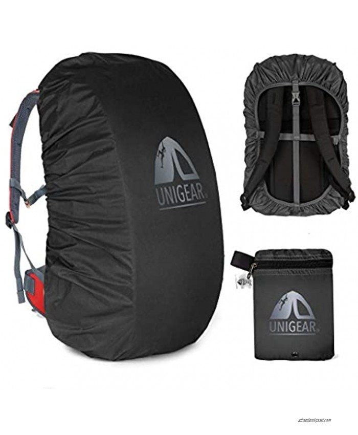 Unigear Backpack Rain Cover Waterproof Rating 5000mm Ultraportable and Durable with 2 Anti-Slip Buckle Strap Integrated Carry Pouch Design