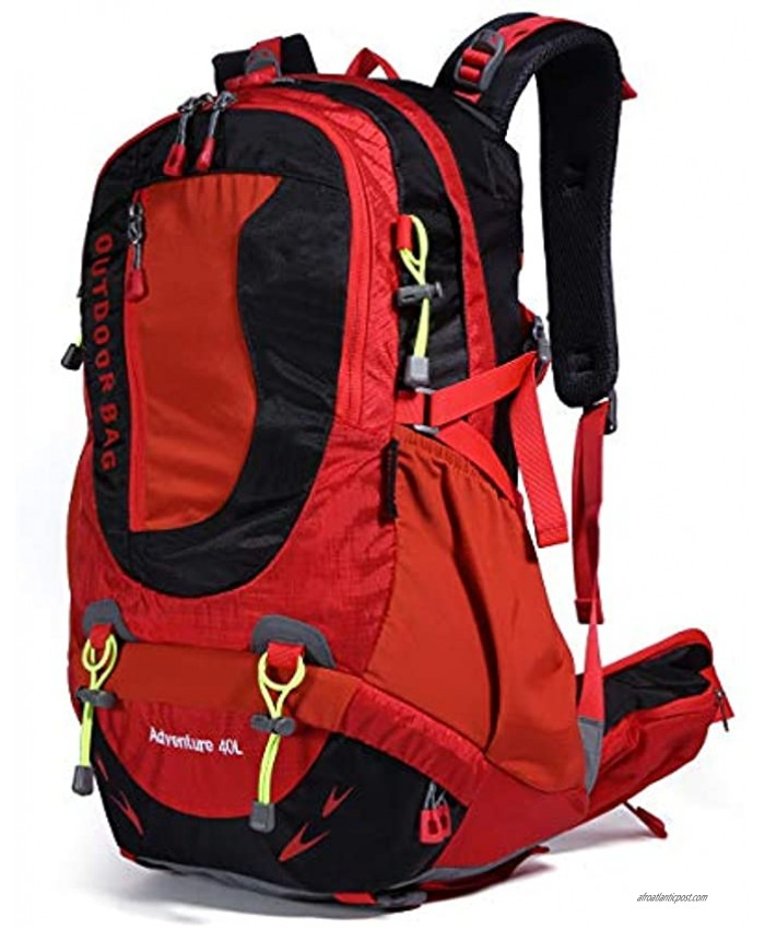 Hiking Backpack Waterproof Outdoor Internal Frame Backpacks for Men and Women Travel Camping Climbing DV2003-Red-New