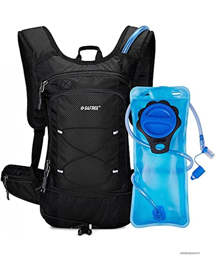 G4Free Insulated Hydration Backpack Pack with 2L BPA Free Bladder for Outdoor Running Hiking Cycling Camping