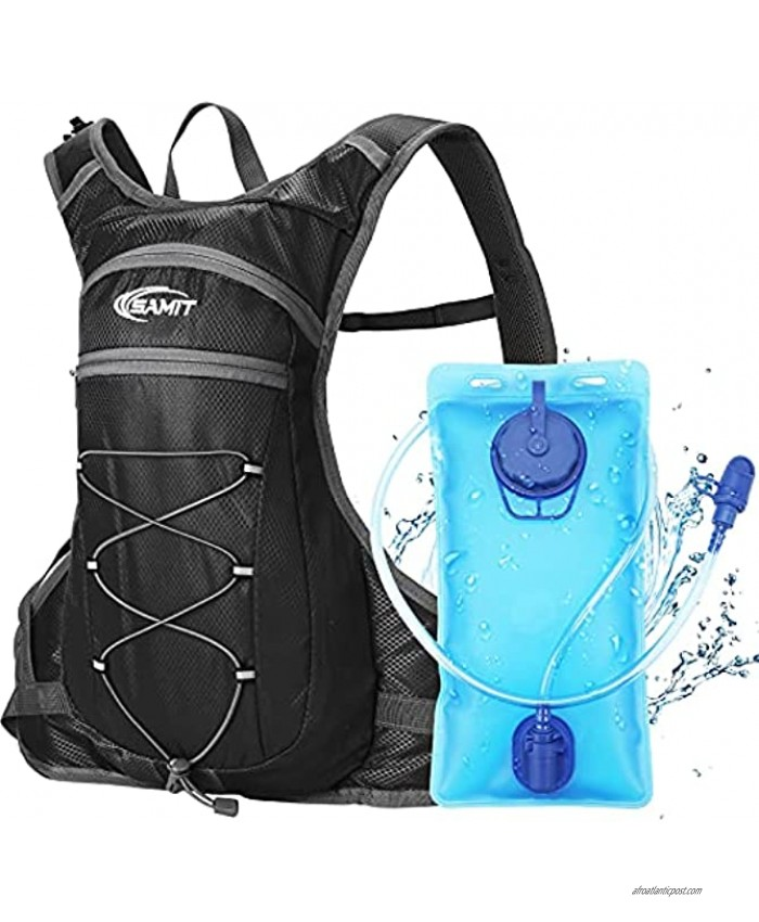 SAMIT Hydration Pack Insulated Hydration Backpack with 2L Leakproof Water Bladder Water Backpack Lightweight Running Backpack for Cycling,Hiking,Climbing,Hunting Biking,Camping